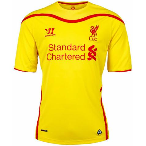 Quần áo  Liverpool sân khách 2014-2015