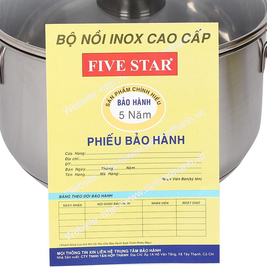 Nồi Fivestar 20cm vung kính