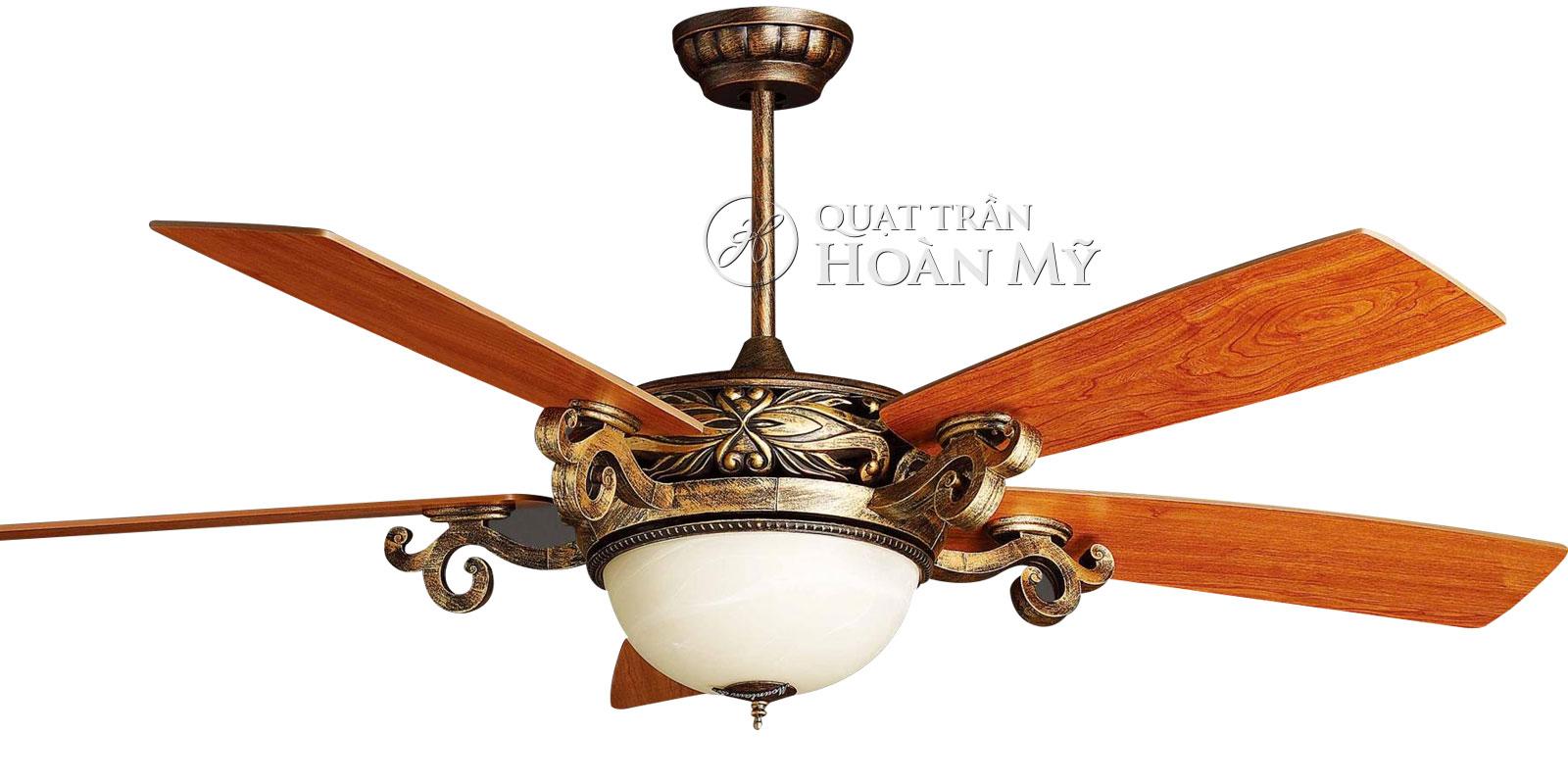 Quạt trần đèn Mountain Air EU-2828 cánh gỗ