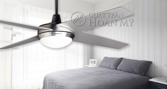 Quạt trần đèn Mountain Air LED cánh trắng 2836