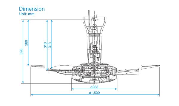 Quạt trần Panasonic 5 cánh F-60WWK, màu trắng, 7 cấp độ gió, điều khiển từ xa