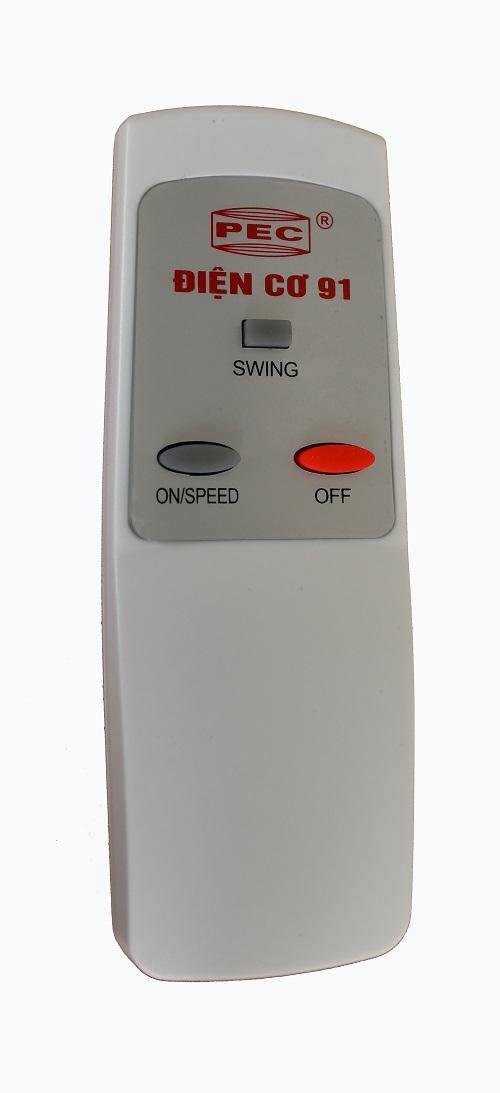 Quạt trần Điện cơ 91 QT-1400 Cánh sắt điều khiển từ xa