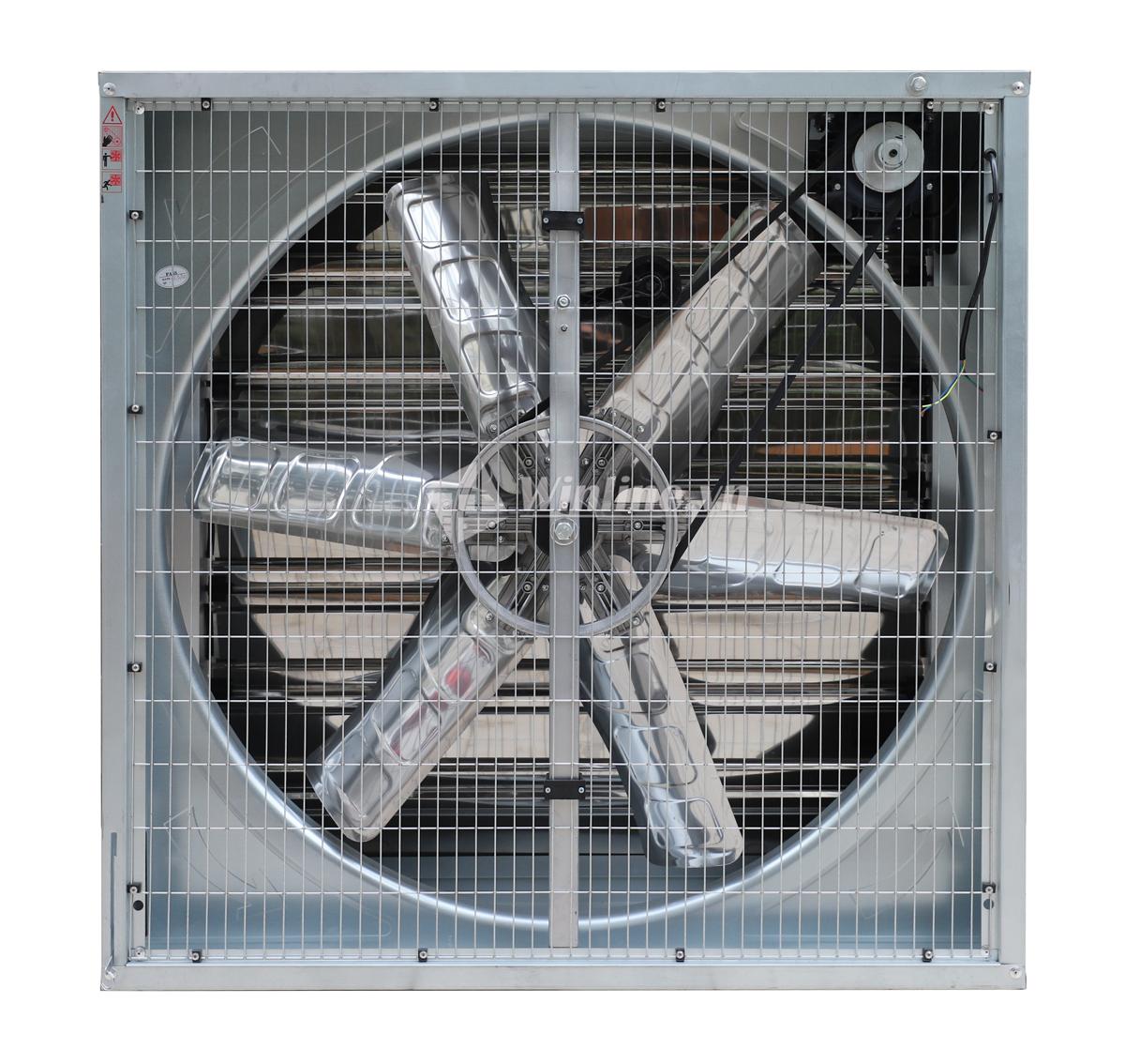 Quạt thông gió vuông SHRV 1100x1100x400, chớp inox