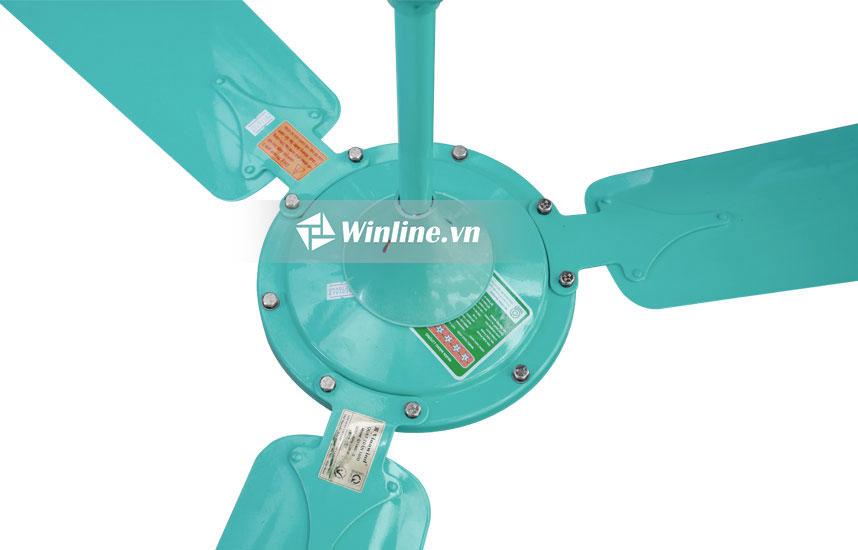Quạt trần Vinawind QT-1400X Màu xanh, cánh nhôm, điều khiển từ xa