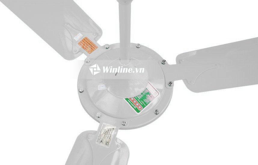 Quạt trần Vinawind QT-1400X Màu trắng, cánh nhôm, điều khiển từ xa