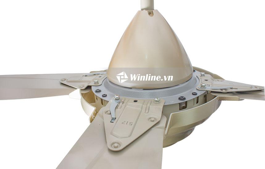 Quạt Trần KDK M56XR màu vàng, 3 cấp độ gió