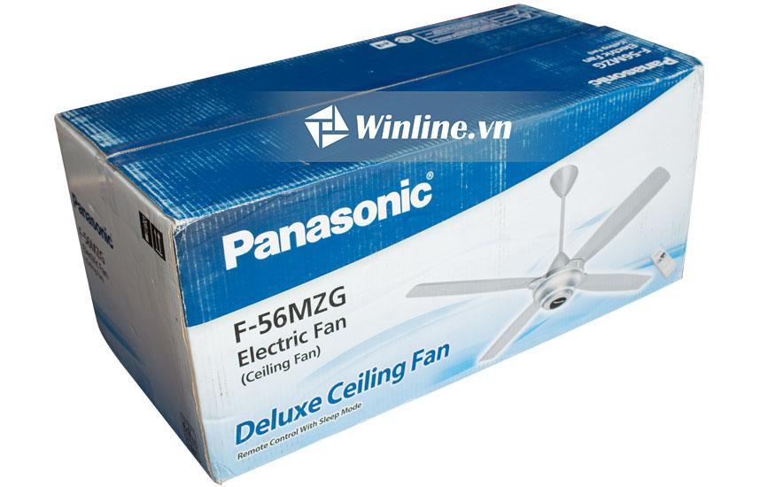Quạt trần Panasonic 4 cánh F-56MZG-S , màu bạc, 3 cấp độ gió, điều khiển từ xa