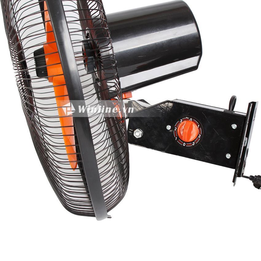 Quạt treo tường điện cơ 91 QTT-CN450/2DN 2 dây, 47w, cánh cam, thân đen