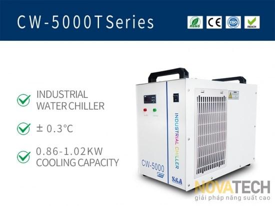 Chiller làm mát máy cắt khắc laser CO2 CW-5000T
