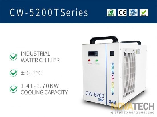 Chiller làm mát máy cắt khắc laser CO2 CW-5200T
