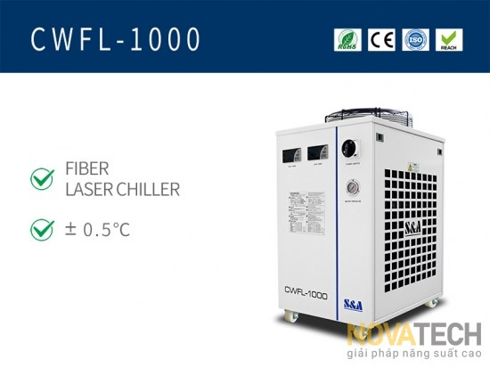Chiller làm mát máy cắt laser fiber CWFL-1000