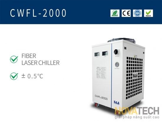 Chiller làm mát máy cắt laser fiber CWFL-2000
