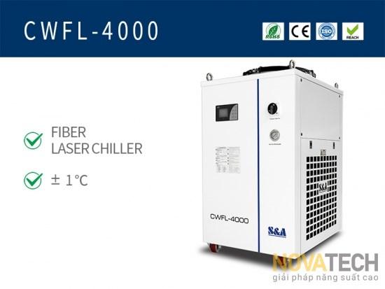 Chiller làm mát máy cắt laser fiber CWFL-4000