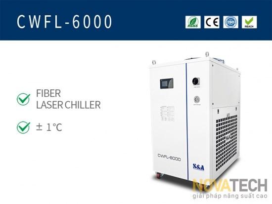 Chiller làm mát máy cắt laser fiber CWFL-6000