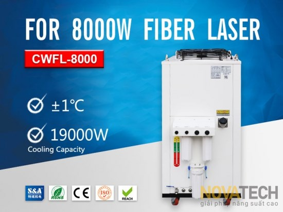 Chiller làm mát máy cắt laser fiber CWFL-8000