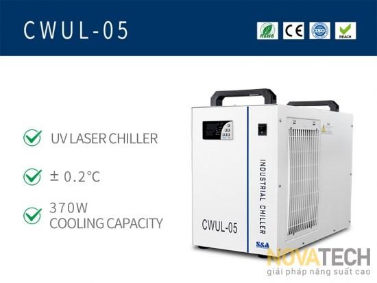Chiller làm mát máy khắc laser UV CWUL-05