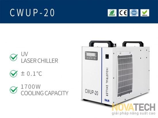 Chiller làm mát máy khắc laser UV CWUP-20