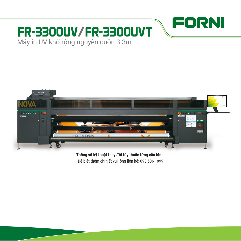 Máy in UV khổ rộng 3.3m FORNI FJ-3300UV