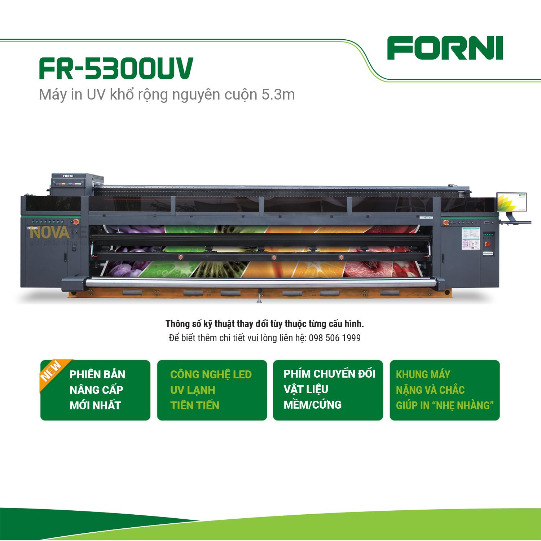 Máy in UV khổ rộng 5.3m FORNI FJ-5300UV