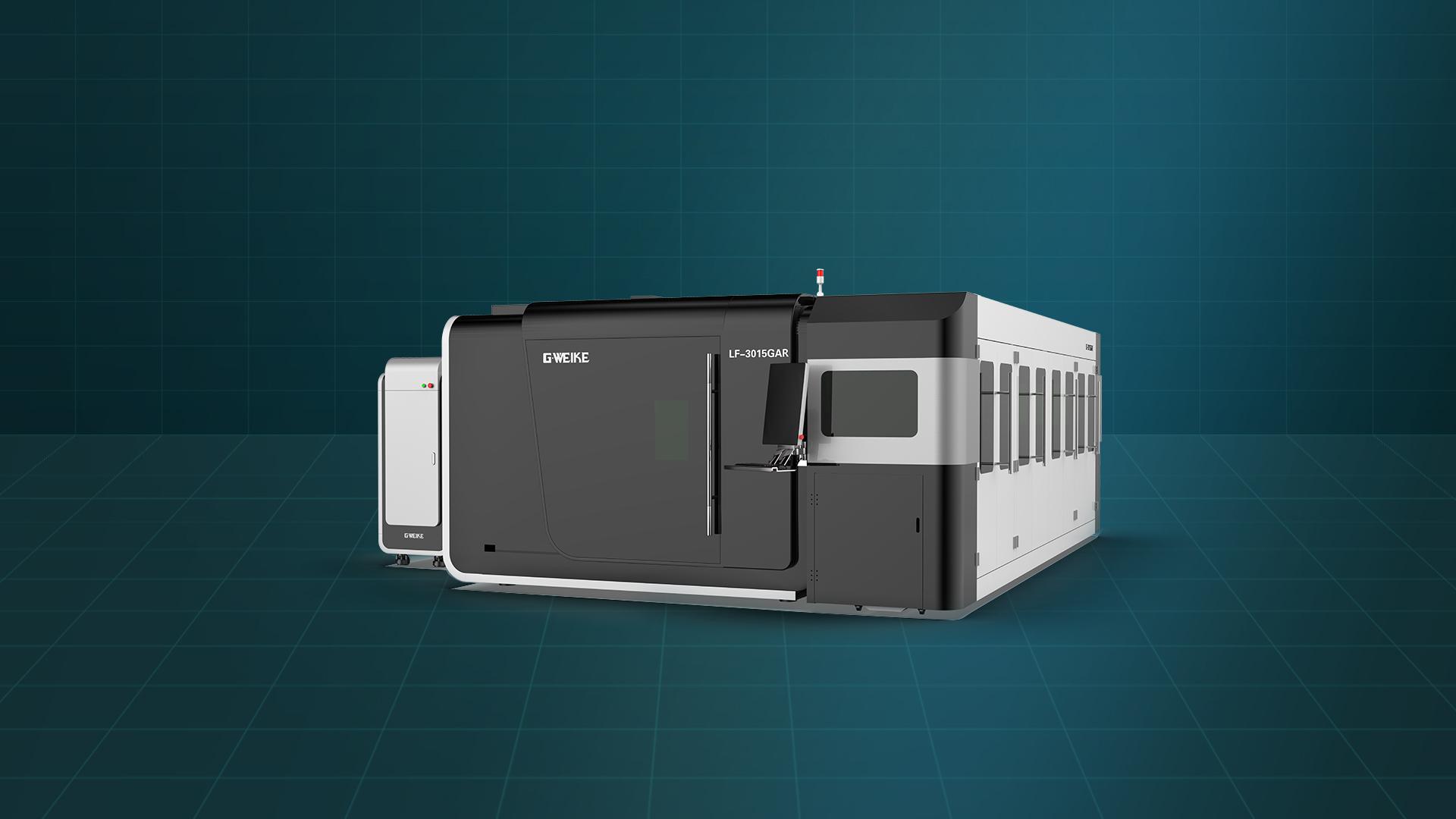 Máy cắt laser fiber bàn đôi buồng kín LF-3015GAR