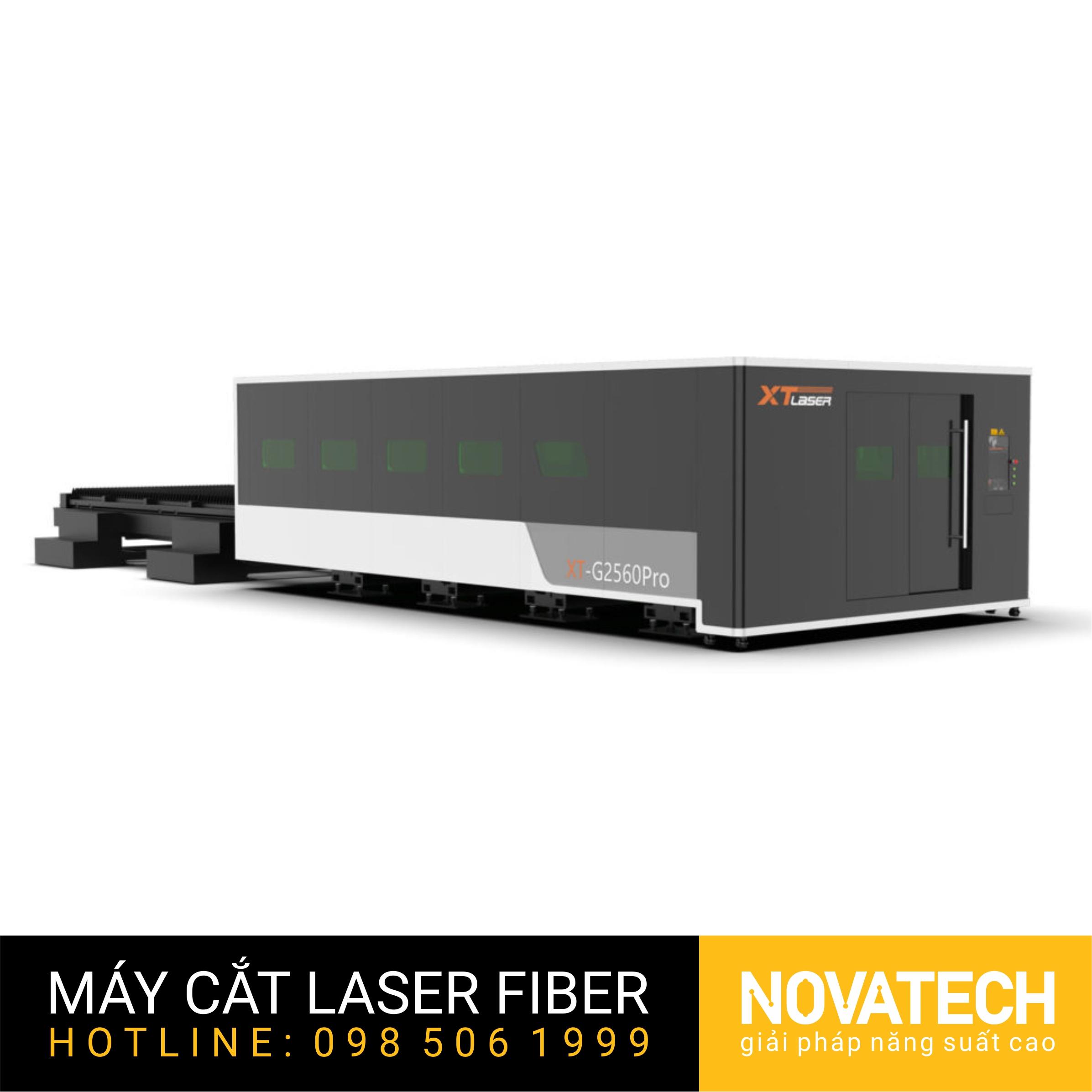 Máy cắt laser fiber bàn đôi buồng kín XT-LASER GP Series