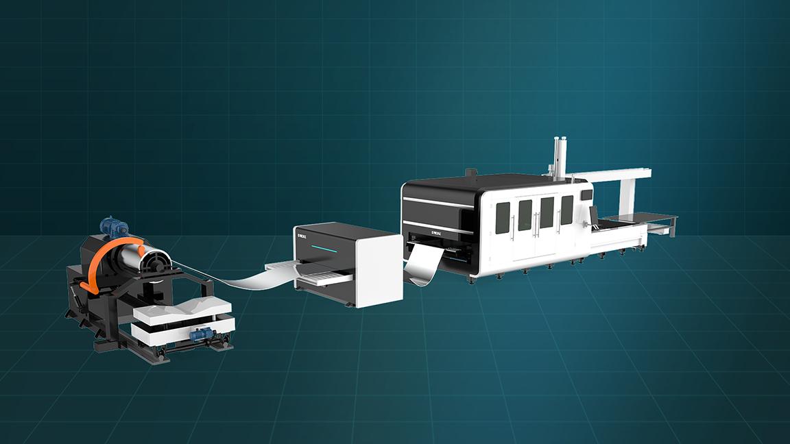 Máy cắt laser fiber kim loại cuộn tự động LF-3015MB