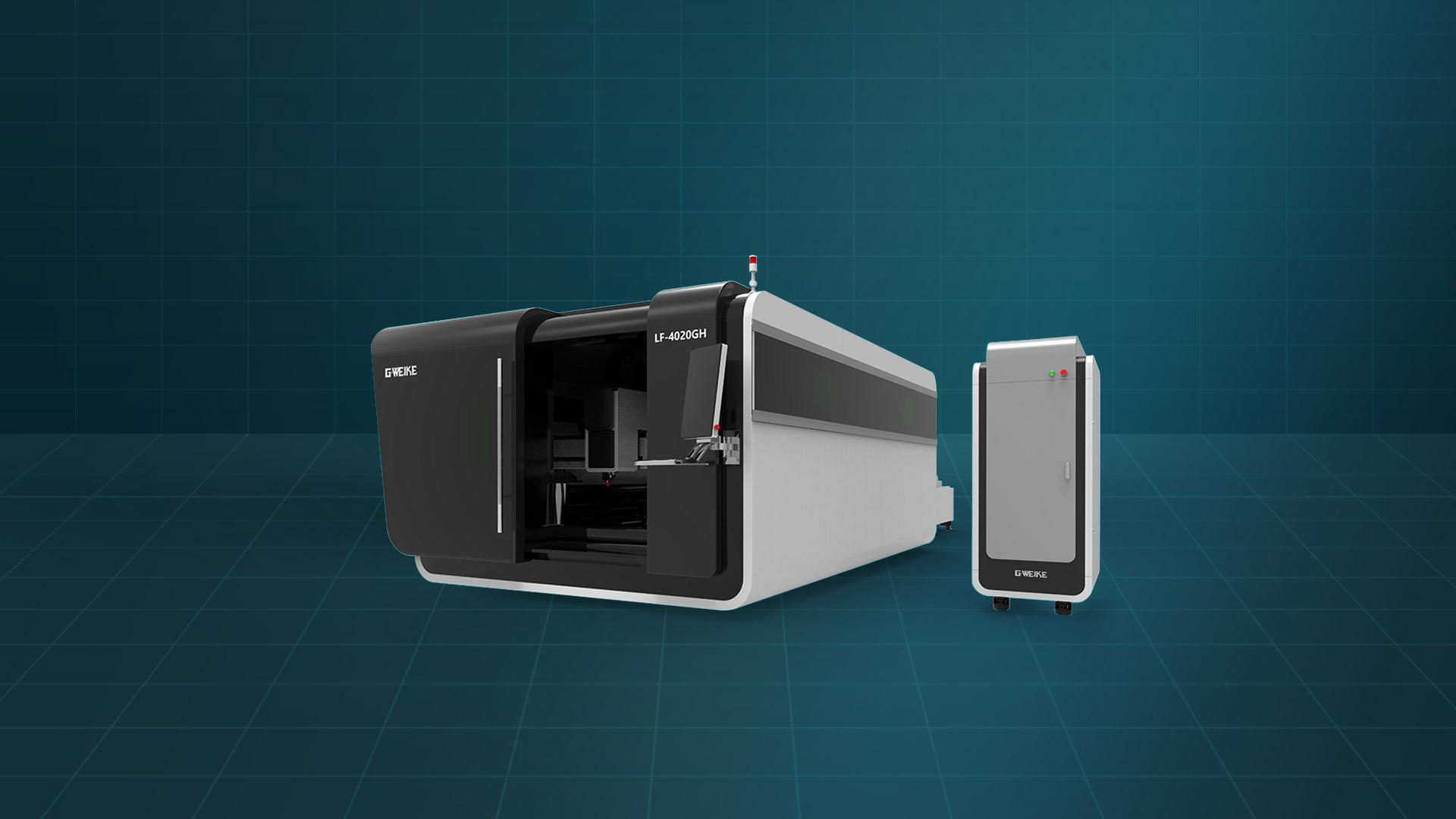 Máy cắt laser fiber bàn đôi buồng kín LF-4020GH