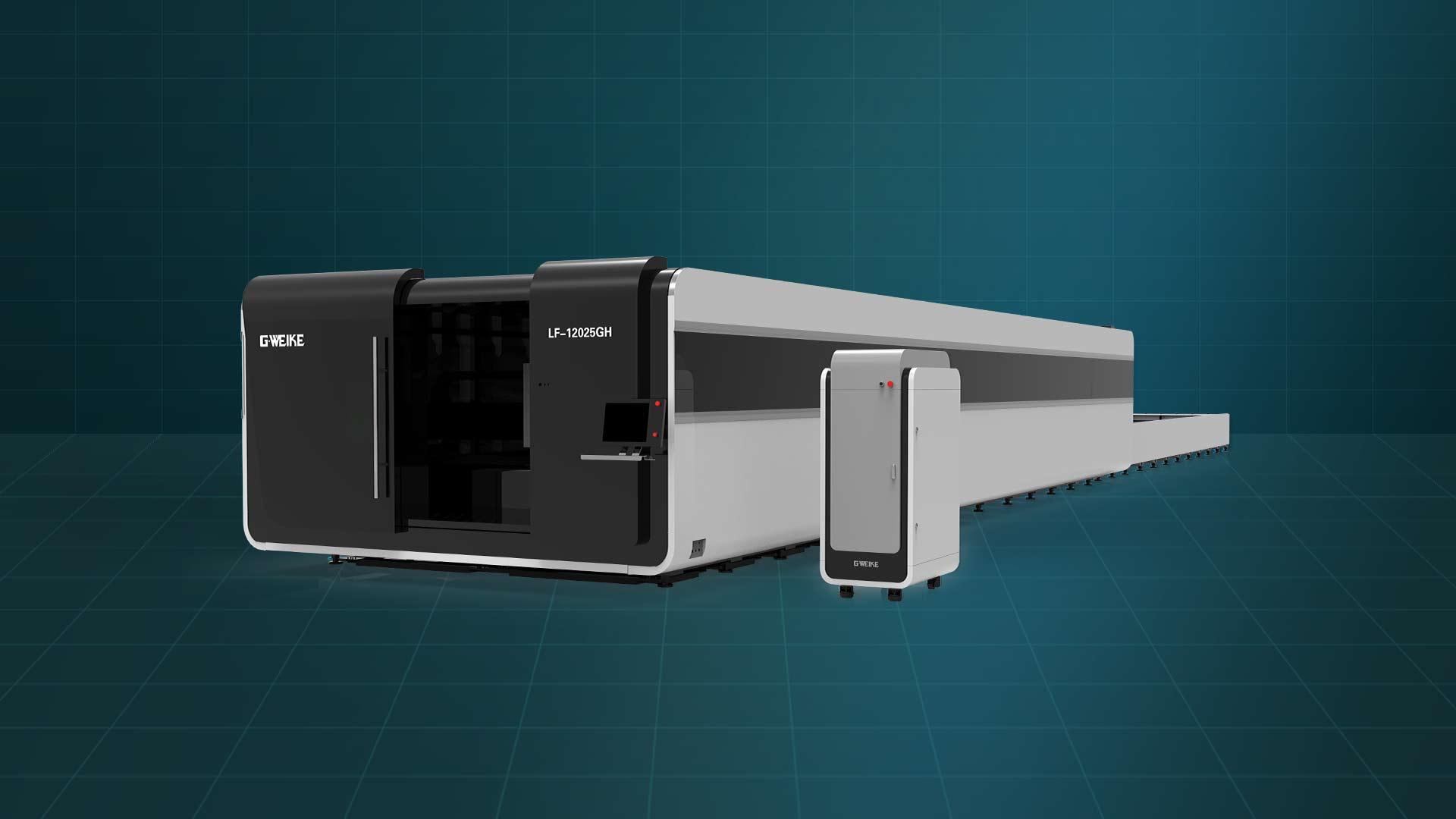 Máy cắt laser fiber bàn đôi buồng kín LF-12025GH