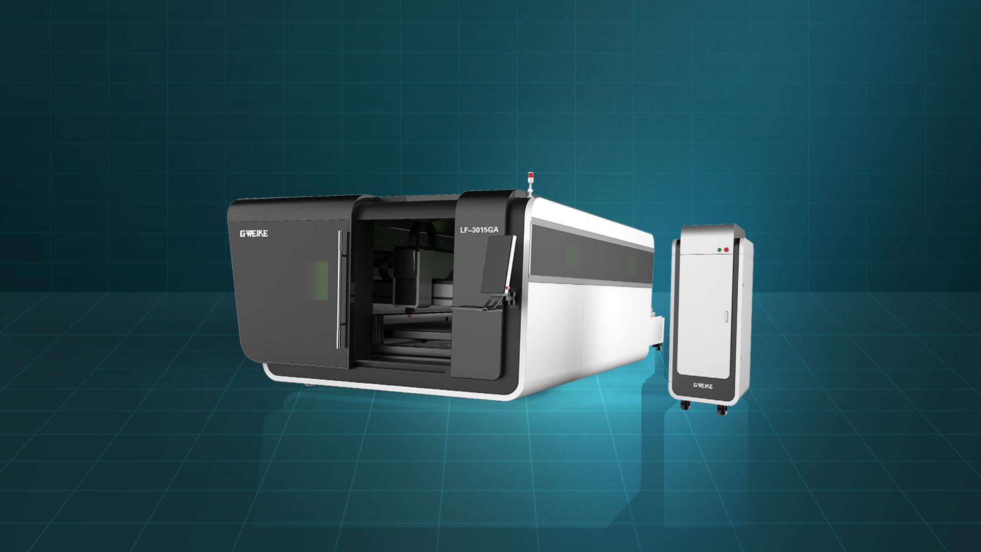 Máy cắt laser fiber bàn đôi buồng kín LF-3015GA