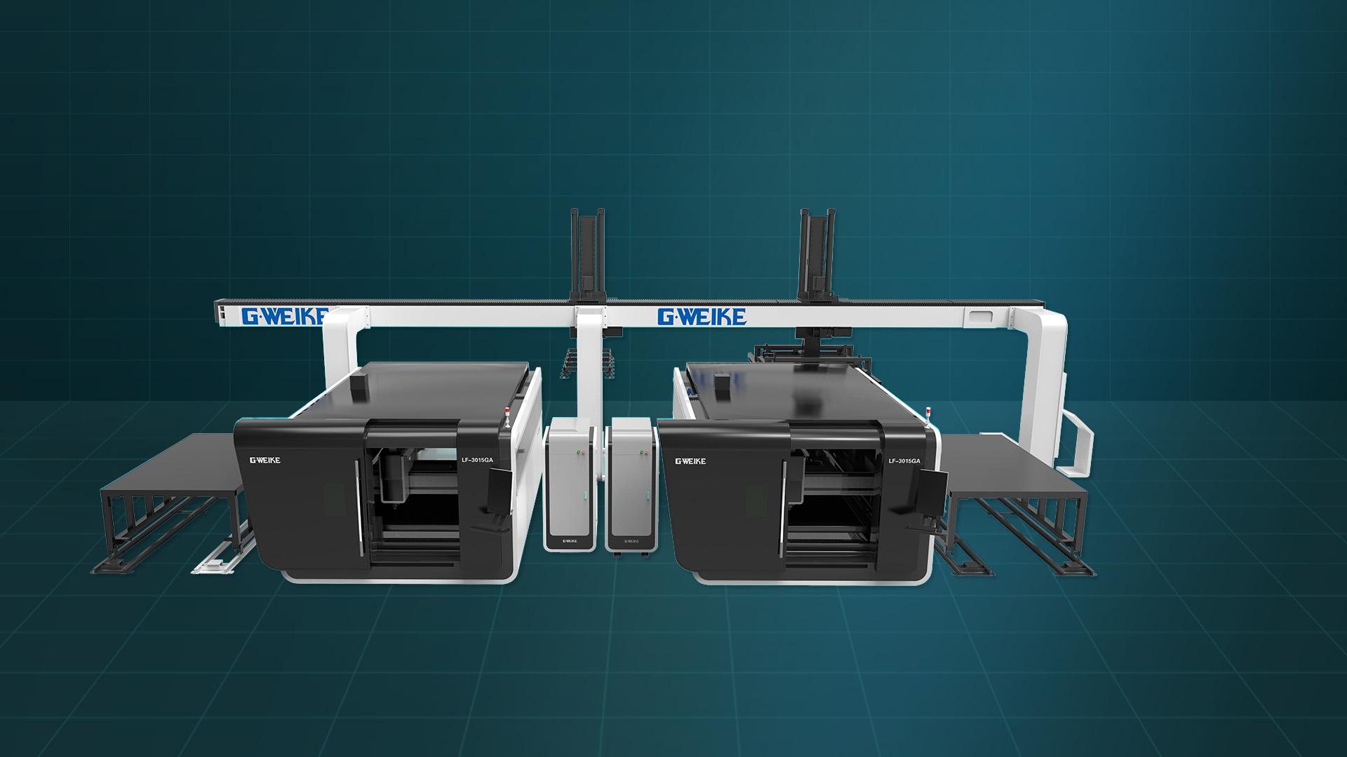Máy cắt laser fiber đôi LF-3015GAL
