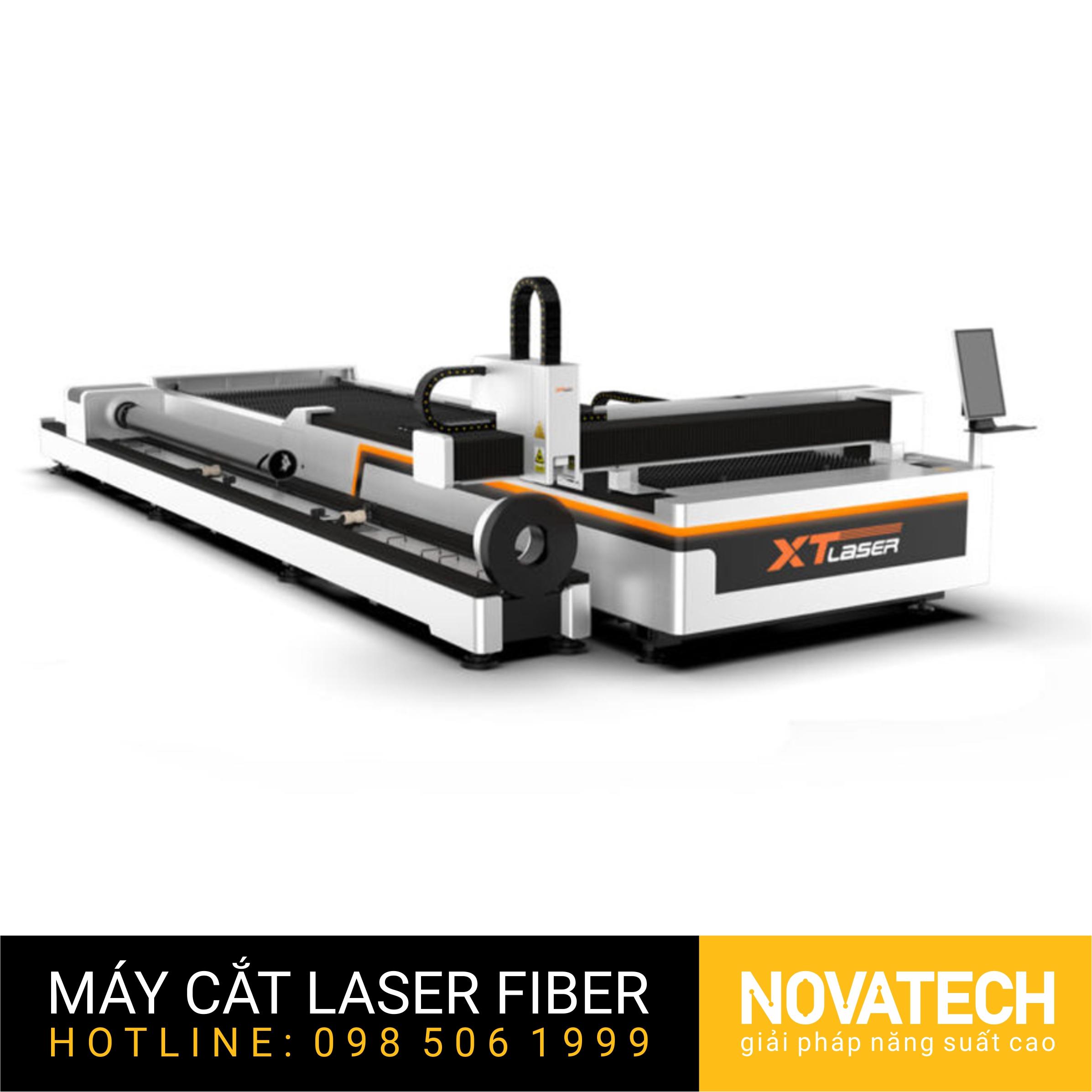 Máy cắt laser fiber bàn đôi XT-Laser (HET Series) cắt tấm và cắt ống