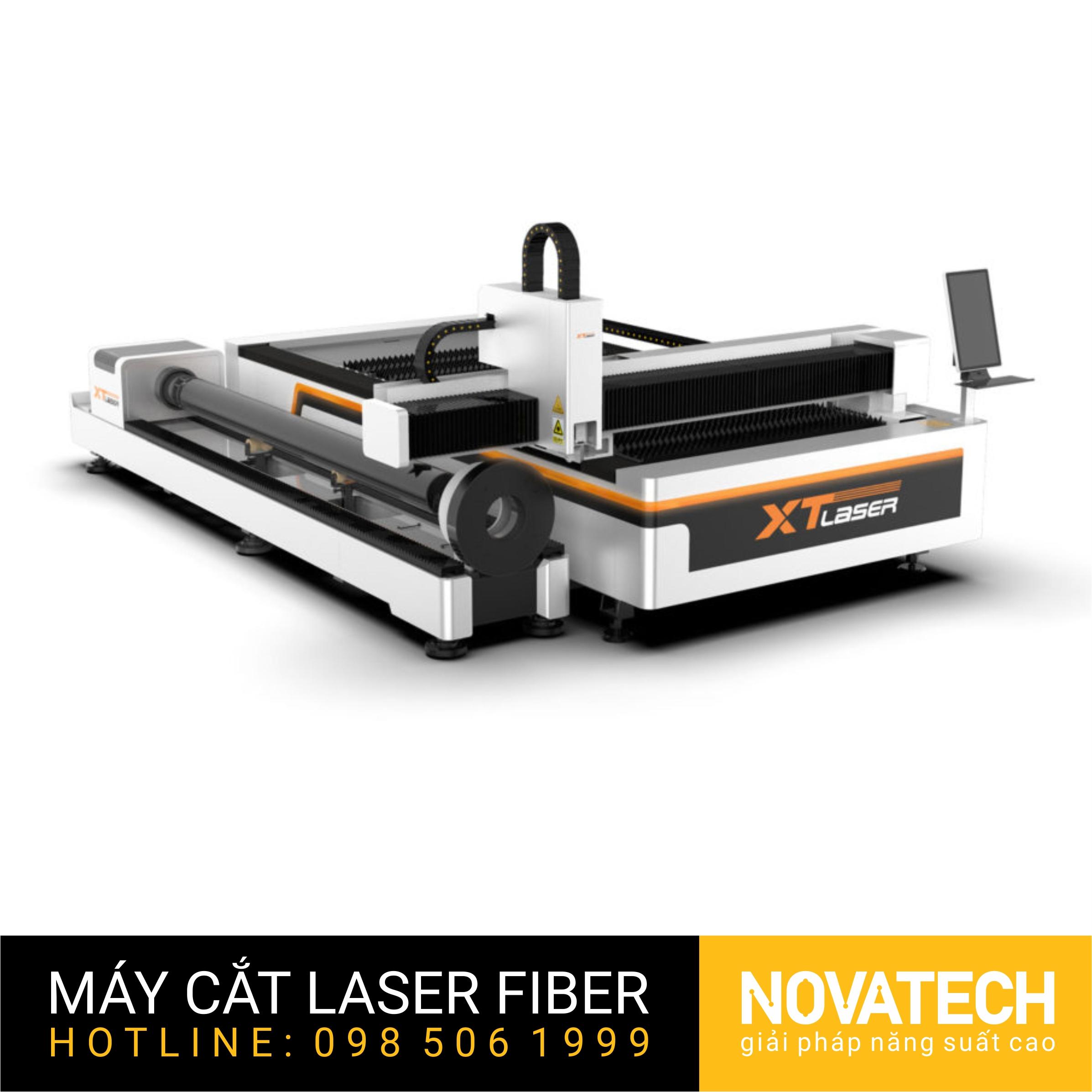 Máy cắt laser fiber bàn đôi XT-Laser HT Series