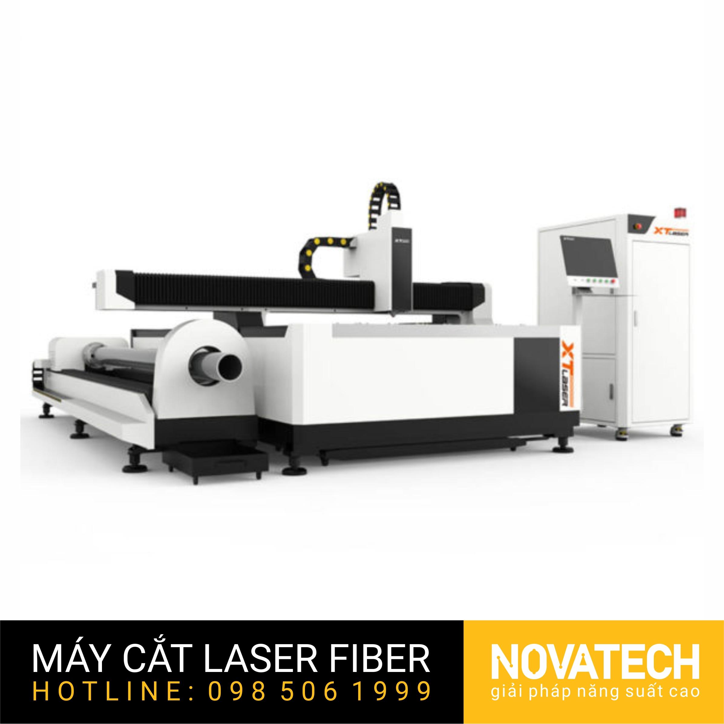 Máy cắt laser fiber bàn đơn cắt thép tấm và ống XT-Laser WT-Series