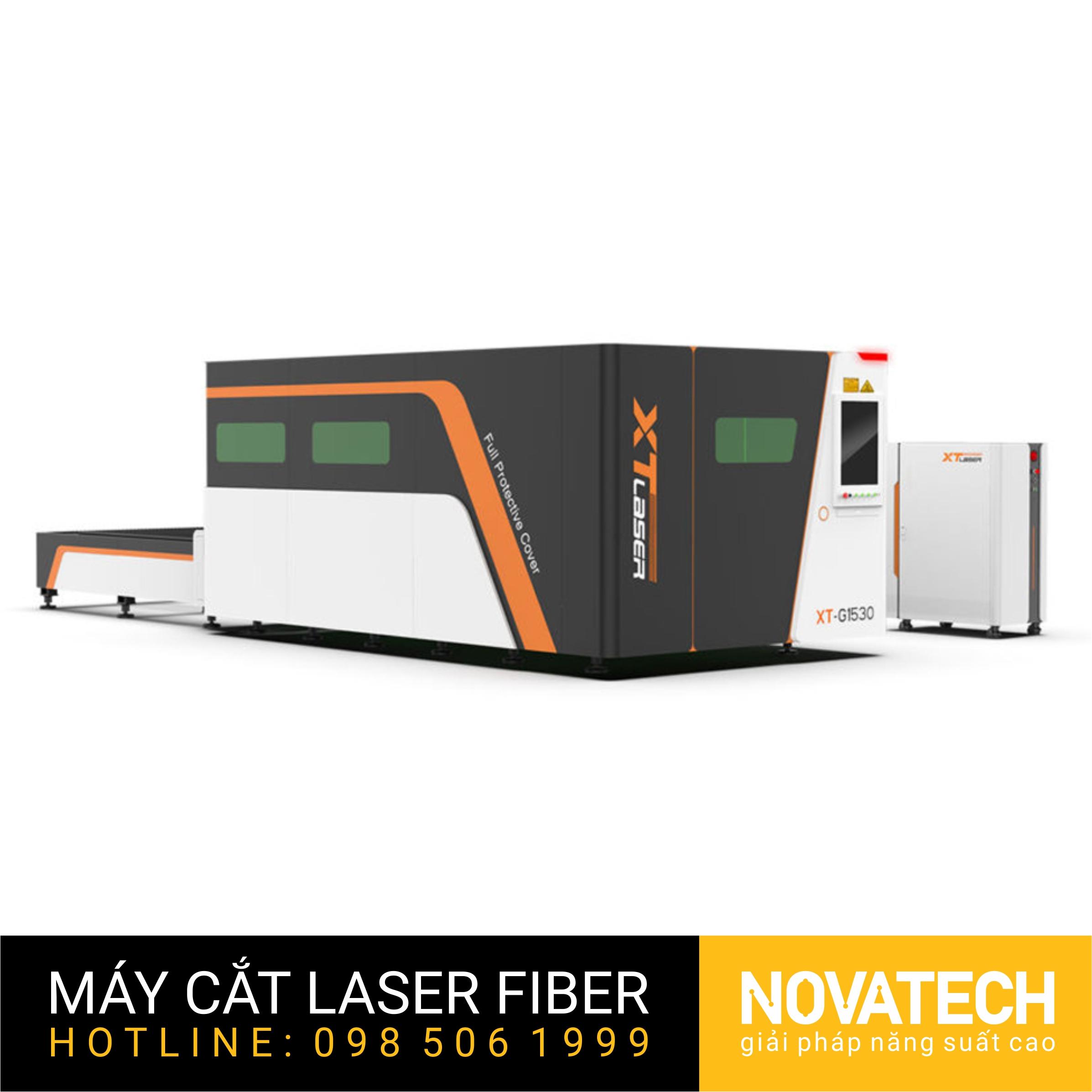 Máy cắt laser fiber bàn đôi buồng kín XT-Laser G Series