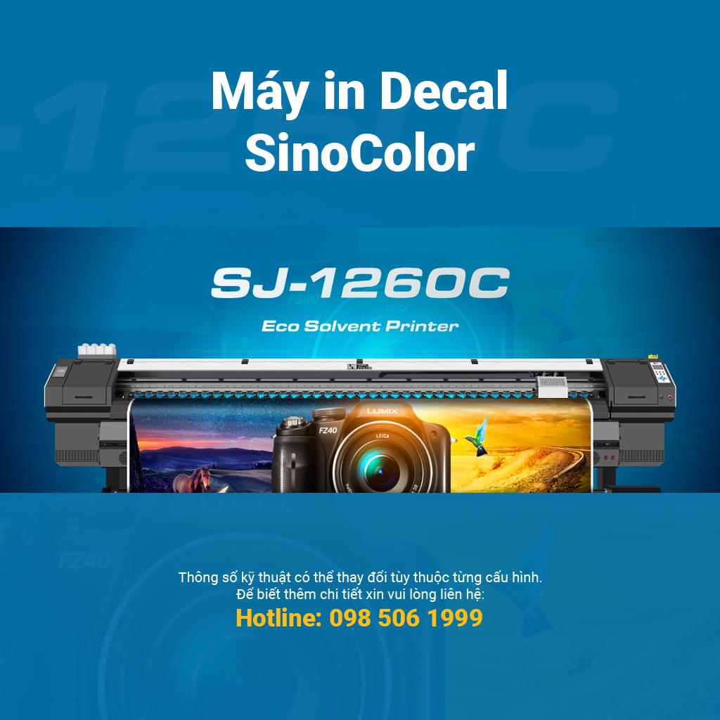 Máy in decal 3.2m SinoColor SJ-1260