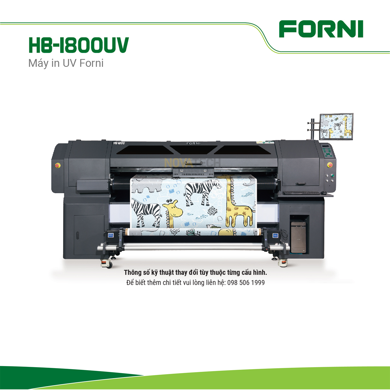 Máy in decal UV 1.8m FORNI HB-1800UV