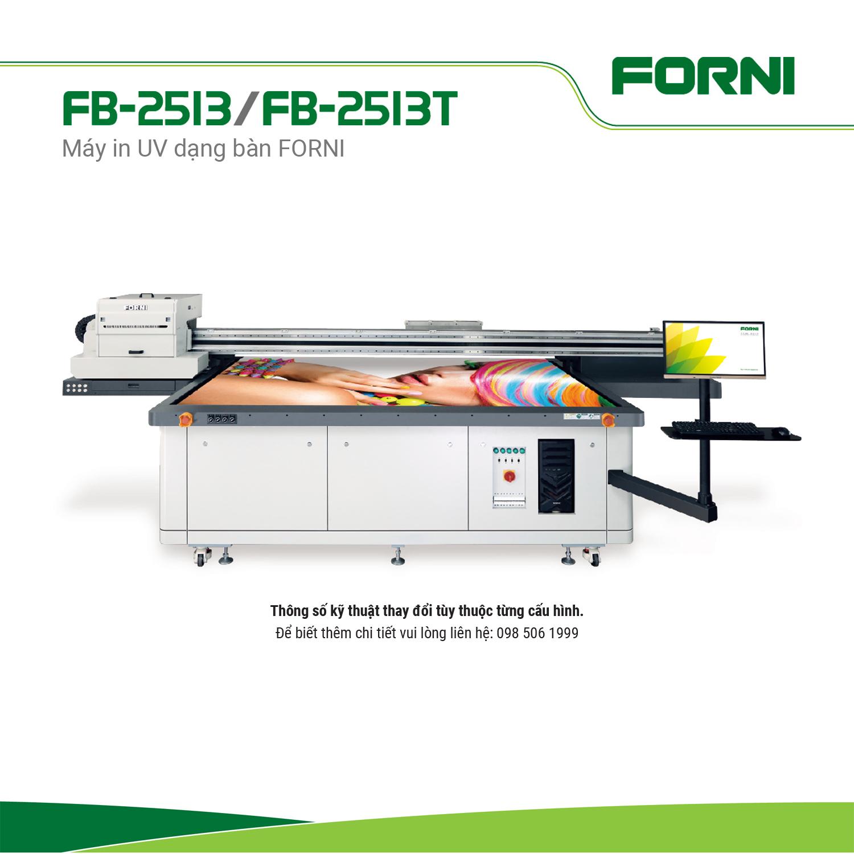 Máy in UV dạng bàn FORNI FB-2513