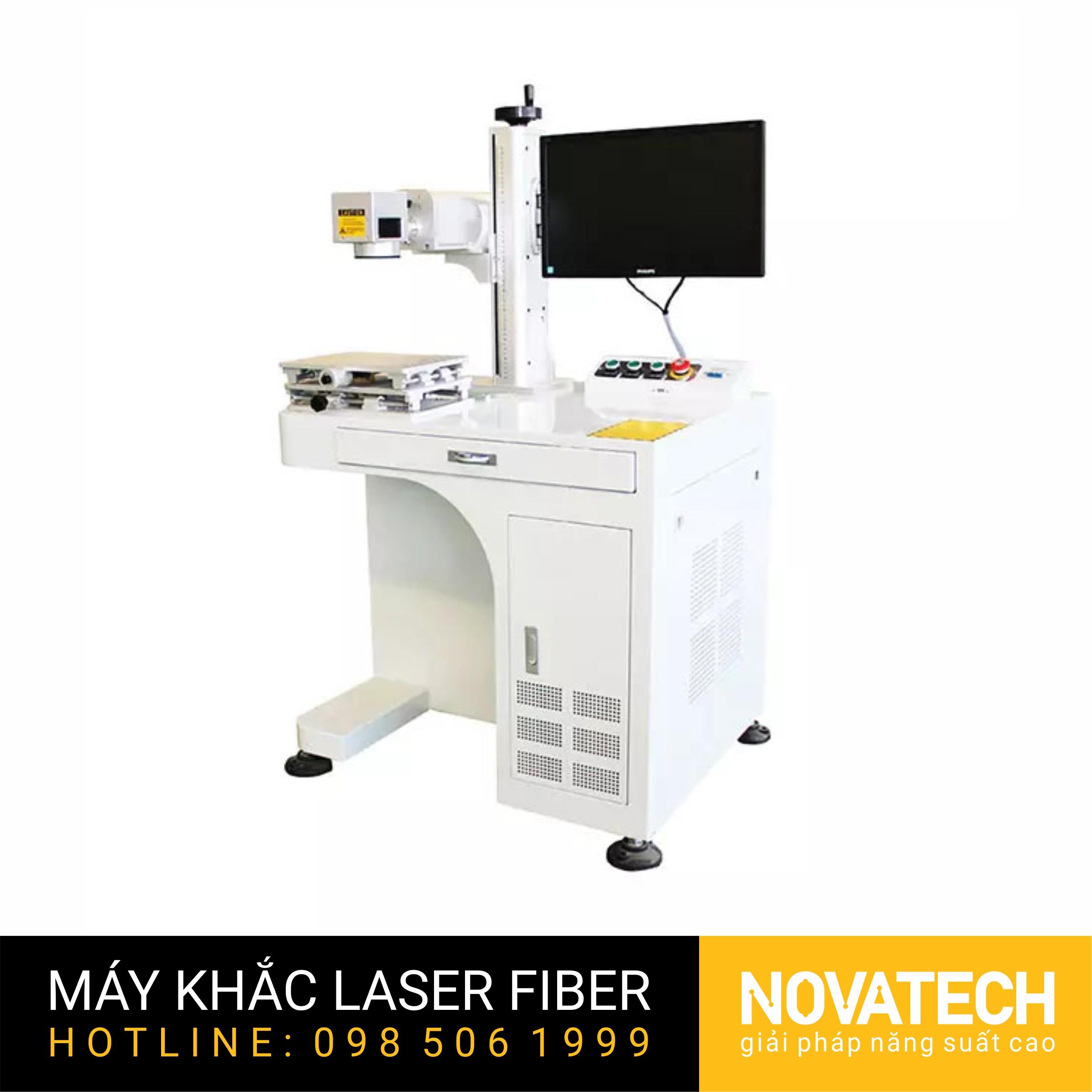 Máy khắc laser fiber 20W XT-Laser kiểu desktop