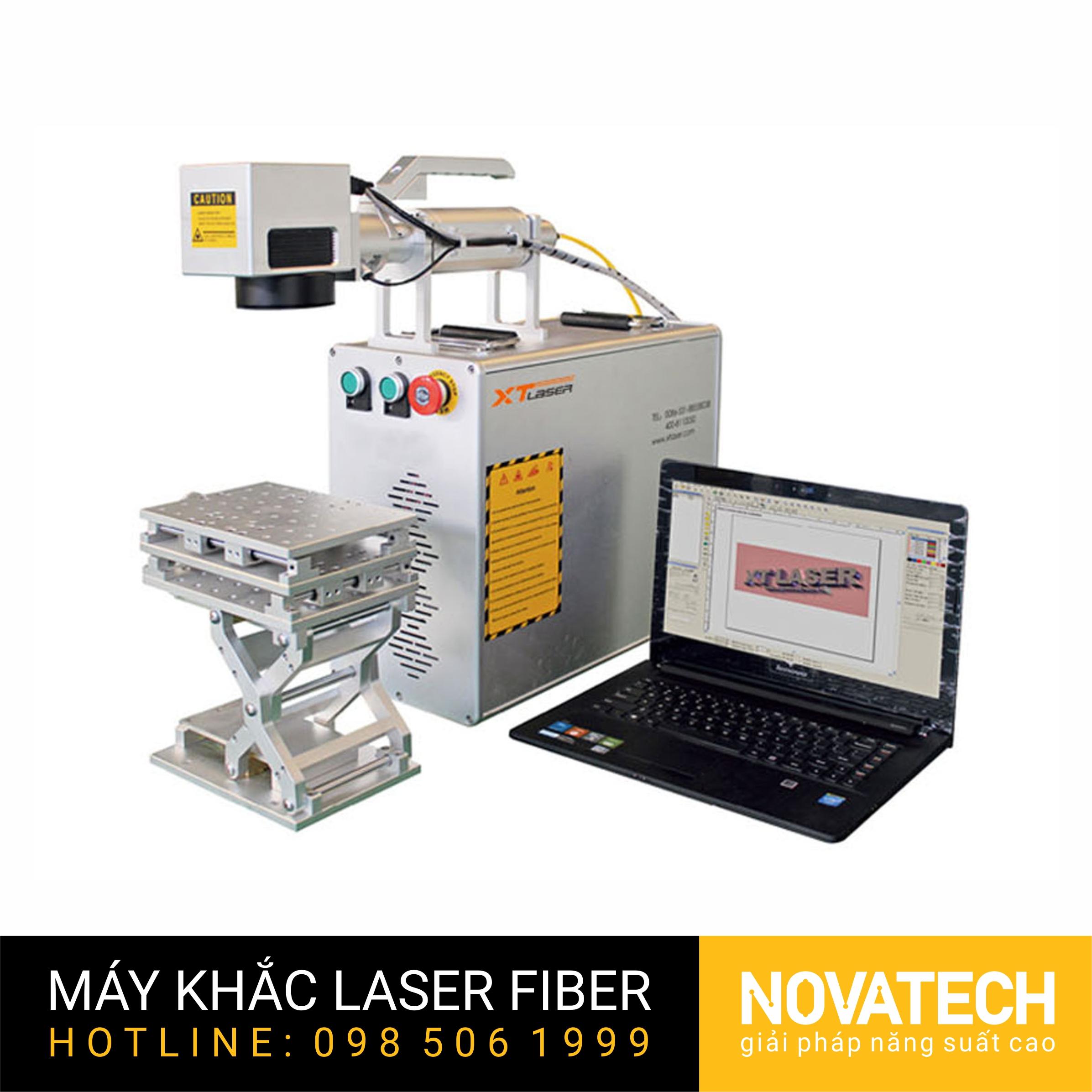Máy khắc laser fiber XT-LASER kiểu xách tay