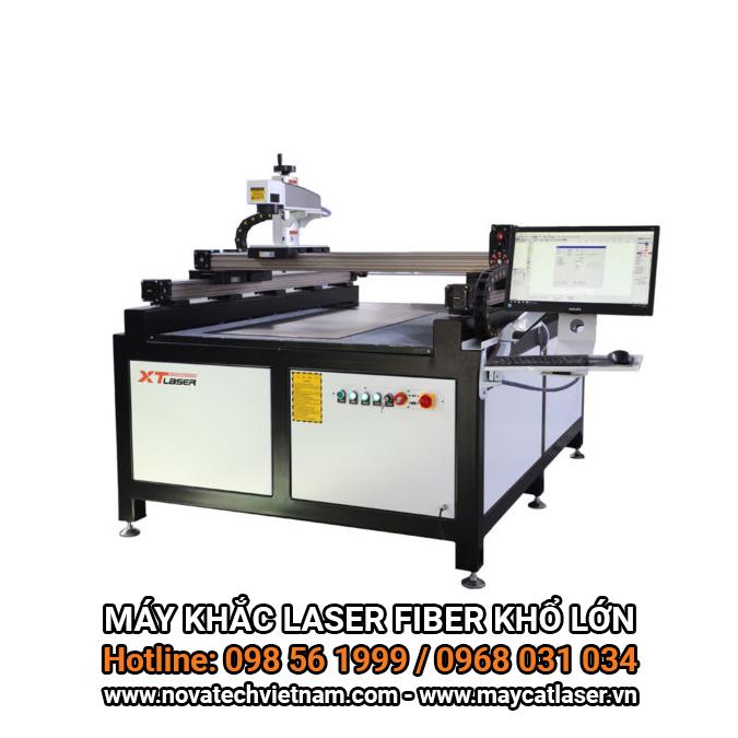 Máy khắc laser fiber khổ lớn XT-Laser