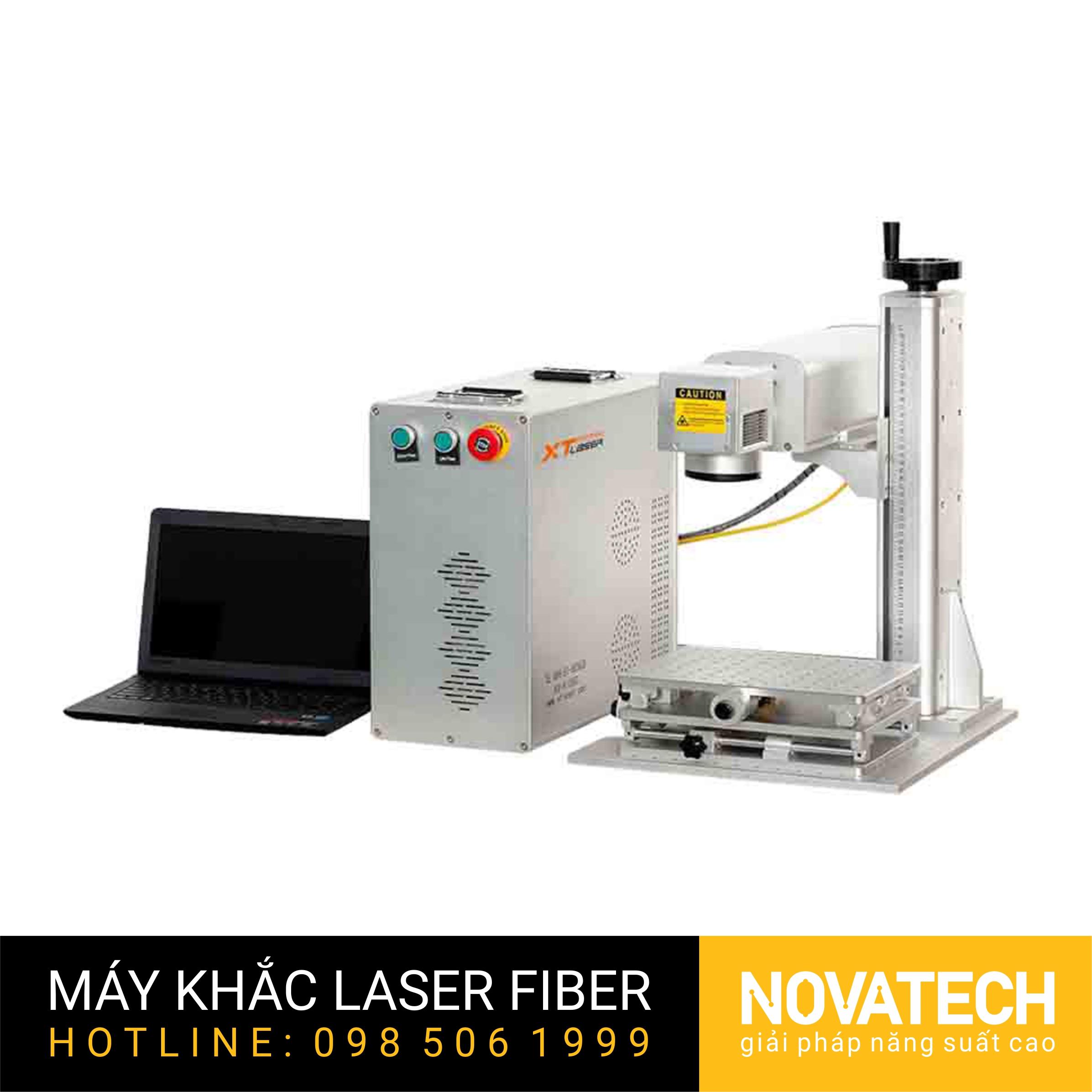 Máy khắc laser fiber XT-LASER kiểu mini