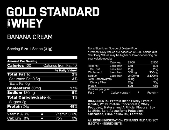 Whey Gold Standard 2lbs 900g