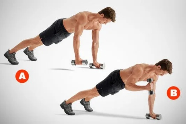 Pushup-position curl