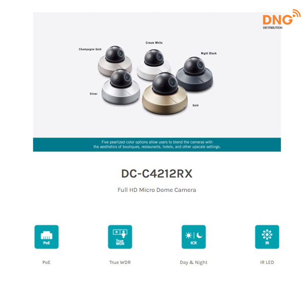 camera IP Dome IDIS hỗ trợ Micro Full HD DC-C4212RX