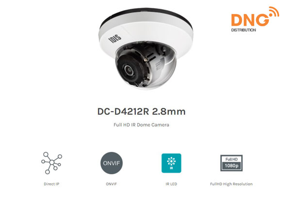 camera IP IDIS IR Full HD DC-D4212R 2.8mm