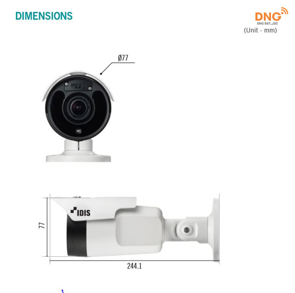 Camera IP IDIS thân trụ 2 MP Full HD DC-T4236WRX