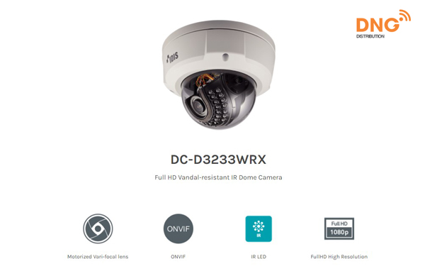Camera IP IDIS Vandal-resistant IR Full HD DC-D3233WRX