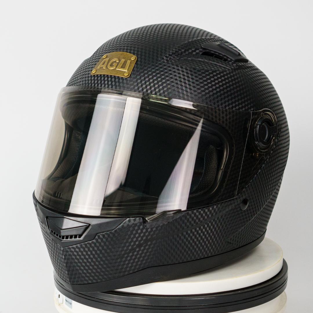 Mũ Bảo Hiểm AGU Full-Face Đen Cacbon (Hàng Đặt Trước)