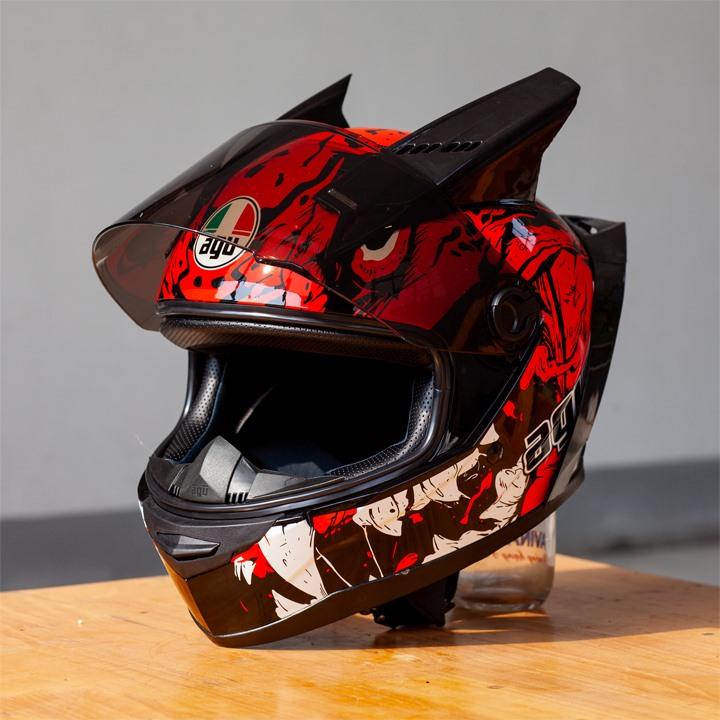 Mũ Bảo Hiểm AGU Full-Face A138 - Đỏ (Hàng đặt trước)