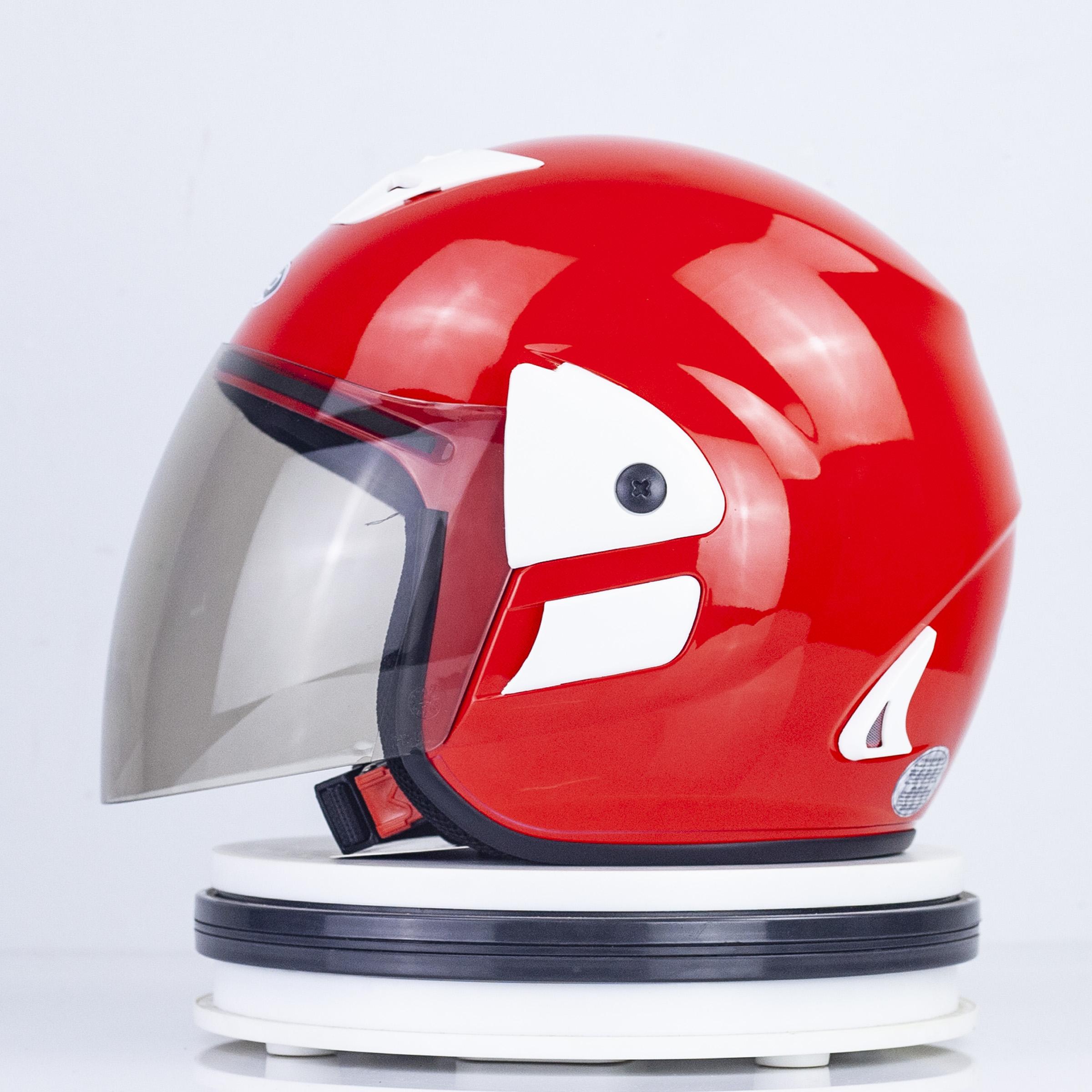 Mũ Bảo hiểm GRO 3/4 đầu - V2 Màu Đỏ Bóng